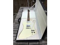 2009 Gibson Firebird reverse. Mini humbuckers, banjo tuners and case.