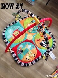 Baby carrier and play mat