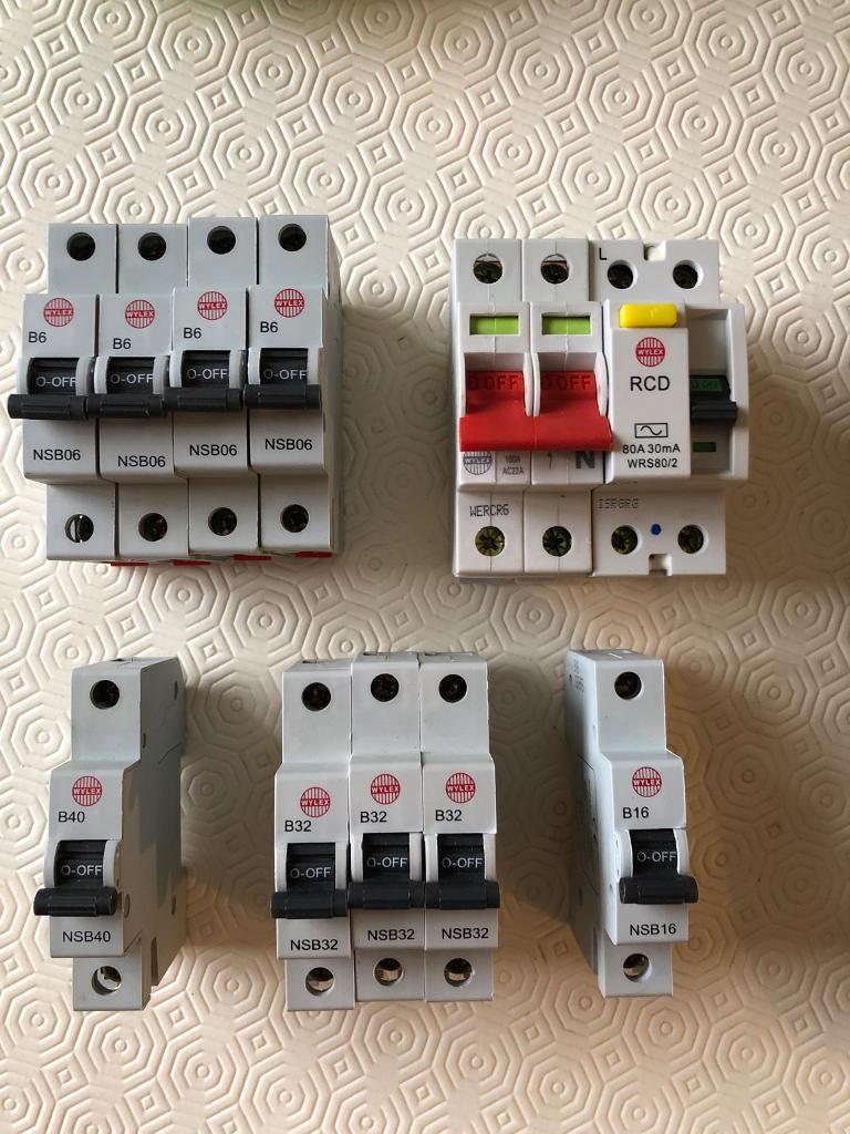 Terrific Wylex Fuse Box Trip Breaker Switches 6Amp 16Amp 32Amp 40Amp Wiring Database Gramgelartorg