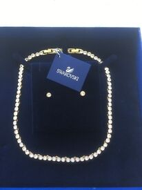 Brand new Swarovski necklace set
