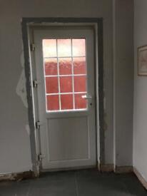 Single double glazed external door with Frame