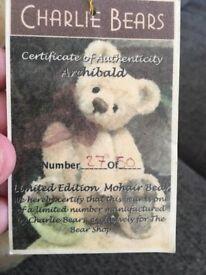 Beary Rare Archibald Charlie Bear