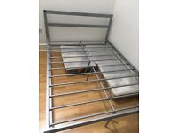 Metal double bed frame perfect condition all nuts and bolts included!