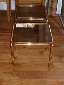 Bedside Tabes (Glass Top) x 2