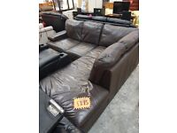 Leather corner sofa for 195