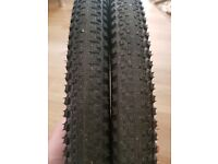 2 continental double fighter tires with inner tubes