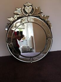 Gorgeous Repro Venetian Glass Mirror
