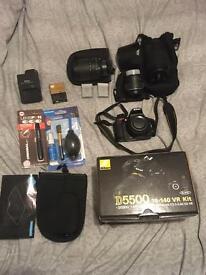 Nikon D5500 with extra lenses and mega bundle see photos