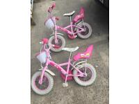 2x kids bikes as new