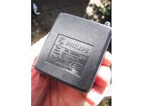 197 brand new Philips regulated 230V/12V/200mA UK plug power supplies