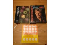 3 Cooking/Recipe books: Nigel Slater -Kitchen Diaries. Gordon Ramsey - FastFood. Student Cookbook