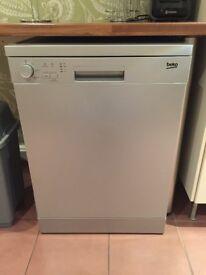 BEKO Dishwasher Silver - Virtually new