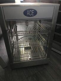Ace food warming counter display