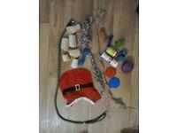 Dog stuff FREE - lead, bones, toys etc - used