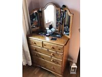 Ducal chest of draws and mirror