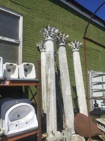 6 Large concrete columns