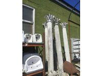 6 Large concrete columns