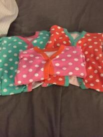 Nutmeg girls 0-3 sleepsuits
