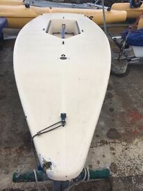 Used Laser sailing dinghy needs repaired