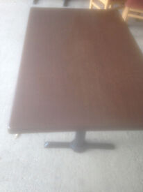 Dark Coloured Rectangular Bistro/Cafe Dining Table in Used Condition