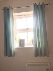 Duck egg blue curtains 46 x 54