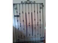 large wrought iron gate