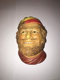 Bossons style heads, chalkware, selection of 5 similar themed heads.