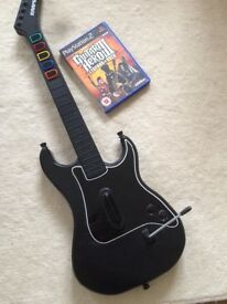 PS2 Guitar hero 3 & guitar.
