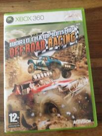 Xbox 360 world championship off-road racing disc game