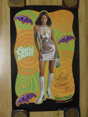 Sexy Girl Beer Poster Coors Light ~ Super Model HEIDI KLUM Halloween Queen