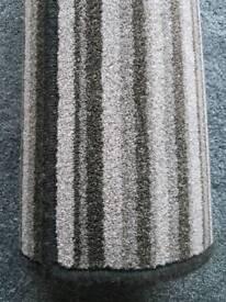 Striped brown rug