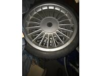 """Alpine 4 x 17"""" alloy wheels with good tyres was on my BMW E30"""
