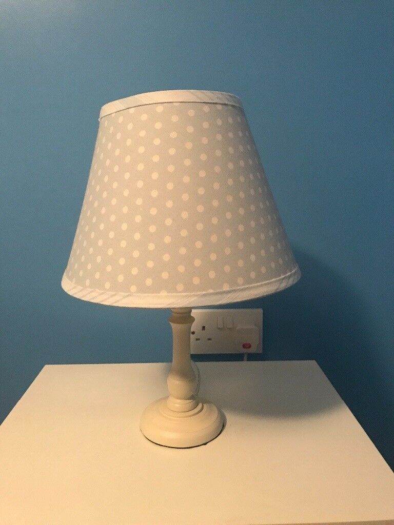 Blue and White Spotted Lamp