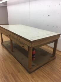 Designer cutting table.