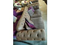 Sold sttc Sofology Chesterfield type Sofa Settee Deliv Poss