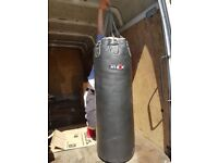 Leather Punch Bag FitBox Exersie Boxing