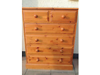 Country Welsh Pine chest of drawers with dovetail joints (Delivery)