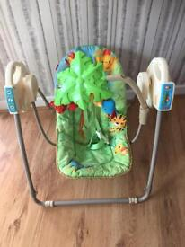 Fisher Price Rainforest Take Along Musical Swing