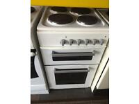 White new world 50cm electric cooker grill & oven good condition with guarantee
