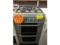 HOTPOINT 50CM ALL GAS COOKER IN BLUE GREY