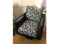2seater sofa-bed & swivel armchair