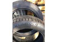 Kumho Tyres x2 nearly new