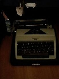 olympia Monica Type writer. Works fine. May need a new ribbon and ink.