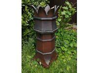 Large Vintage King Crown Chimney Pot For Sale