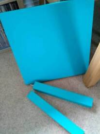 Small blue table