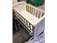 Baby crib glider and mattress