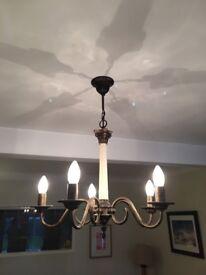 Ceiling chandelier lights.