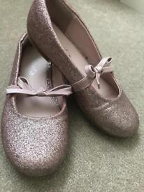 Girl next shoes pink glitter size 11