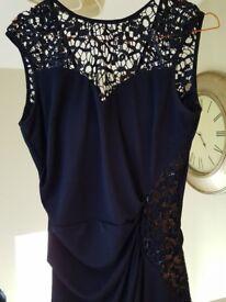 Navy Size 12 full length prom dress