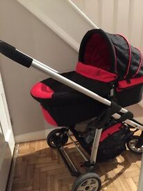 iCandy Cherry stroller and pushchair, black/red. Excellent condition